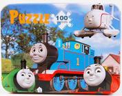 Thomas the Tank Engine 100pcs Wooden Jigsaw Puzzle Educational Montessori Child Toy in Tin Box