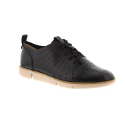 Clarks Tri Etch - Black Leather Womens Shoes 6 UK