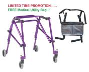 Drive Nimbo 2G Lightweight Posterior Walker, Medium, Wizard Purple & FREE Medical Utility Bag Grey! - #KA3200-2GWP