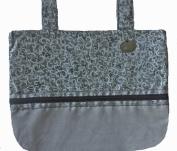 Silver Grandeur - Classic Walker Bag In Silver & Black
