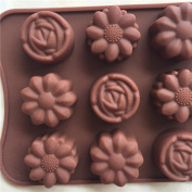 15-Cavity Silicone Cake Mould Flower Rose Chocolate Soap Mould Ice Tray Mould Baking Tools Resistant High Temperature Easy to Operate and Clean Gessppo