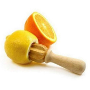 Unmengii Vintage Mini Chinese Cherry Orange Wood Juice Lemonade Lemon Fruit Squeezer Reamer Extractor Tool Juicer