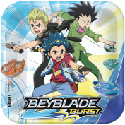 Amscan Beyblade Burst 7 Square Plates