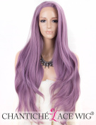 Chantiche Fashion Purple Lace Front Wig Long Wavy Synthetic Hair Wigs for Women Heat Resistant 60cm
