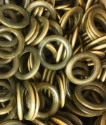 20 Pcs 6.4cm Stained Natural Wood Rings Circles for DIY Pendant Connectors Jewellery Making