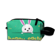 Create Magic - Easter Bunny Student Pen Pencil Case Waterproof Multi-purpose Storage Tote Tools Bag Cosmetic Bags With Zipper And Hanging Loop