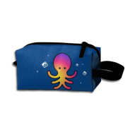 Create Magic - Octopus Student Pen Pencil Case Waterproof Multi-purpose Storage Tote Tools Bag Cosmetic Bags With Zipper And Hanging Loop