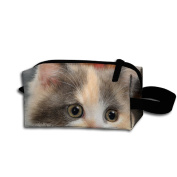Create Magic - Cat Pen Holder Stationery Pencil Pouch Waterproof Multi-purpose Storage Tote Tools Pouches Cosmetic Bags With Zipper And Hanging Loop