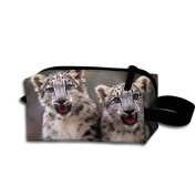 Create Magic - Snow Leopard Small Carrying Storage Pouch Case Bags Waterproof Multi-purpose Storage Tote Tools Pouches Cosmetic Bags With Zipper And Hanging Loop