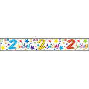 Simon Elvin Childrens/Kids I Am 2 Today Foil Birthday Banner (One Size)
