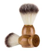 Tsmile Clearance Barber Tool-Men Shaving Bear Brush Best Badger Hair Shave Wood Handle Razor