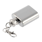Portable 30ml Mini Stainless Steel Hip Flask Alcohol Flagon with Keychain Wine Pot MuLuo