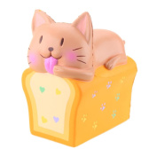 15CM Squishy Cartoon Cat Bread Jumbo Stress Reliever Toys,HARRYSTORE Toast Scented Cream Slow Rising Squeeze Decompression Toys