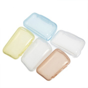 Jooks Travel Portable Toothbrush Head Cover Protective Case Cleaner Protect Preventing Molar 5Pcs Random Colour