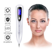 Mole Remover Pen OCSOSO Portable USB Rechargeable Skin Tag Removal Tool Kit with 6 Strength Levels Dot Mole Remover Beauty Skin Machine with LCD Display.