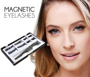 NeutroBeauty 8 x Long Dual Magnetic False Eyelashes for Natural Look -- Best Fake Lashes Extensions One Two Cosmetics 3D Reusable