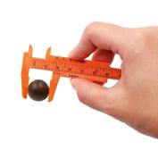 Vernier Calliper, hunpta 80mm Mini Plastic Student Sliding Vernier Calliper Gauge Measurement Tool