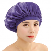 Refaxi New Purple Sleeping Hat Night Sleep Cap Hair Care Satin Bonnet Nightcap For Women Men