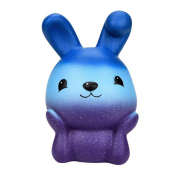 VEMOW 16cm Easter Galaxy Bunny Scented Slow Rising Squeeze Collect Easter Gift Lovely Gift