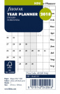 Filofax Mini Refill Year Planner horizontal 2018