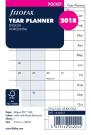 Filofax Pocket Refill Year Planner horizontal 2018