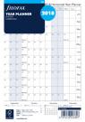 Filofax A5 Refill Year Planner horizontal 2018