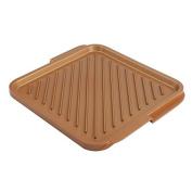 Non Stick Grill Baking Pan Copper Bakeware Rectangular Cooking Pan Griddle Pan Durable Extra-Large Kitchen Baking Tool