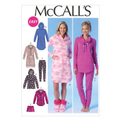 McCall's Misses' Tops, Dress, Shorts, Pants and Slippers Pattern - Size