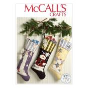 McCall's Christmas Stockings Pattern - Size