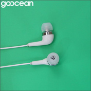 GoOcean Noise Cancelling White Headphones- with Remote and Microphone
