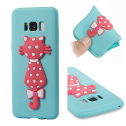 Galaxy S8 Plus Case, ARSUE [Scratch Resistant] Cute 3D Creative Pink Cat Slim Fit Flexible TPU Gel Rubber Soft Silicone Bumper Feeling Protective Phone Case Cover for Samsung Galaxy S8 Plus