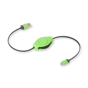 ReTrak Retractable iPhone 5/iPad Lightning Charge and Sync Cable, Green