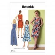 McCall Pattern B6351-A50 Tulip-Detail Dresses and Jumpsuit