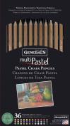 Generals MultiPastel Chalk Pencils, Set of 36