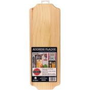 Walnut Hollow Pine Address Plaque, 43cm x 15cm by .140cm