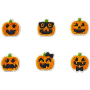 Wilton 710-2121 Jack-O-Lantern Dress Up Dot Matrix Icing Decoration, Assorted