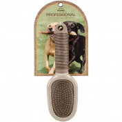 Nandog Pet Brush-Oval Double Sided Brown
