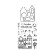 Hero Arts House Stamp & Cut Rubber Stamp & Die Set
