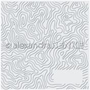 Alexandra Renke Embossing Folder-Level Curves