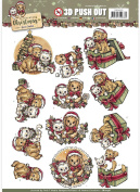 Find It Yvonne Creations Celebrate Christmas Punchout Sheet-Puppies & Kittens