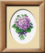 Violets Counted Cross Stitch Kit-5x6.25 16 Count
