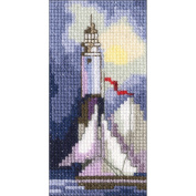 Lighthouse Counted Cross Stitch Kit-5.7cm x 11cm 14 Count