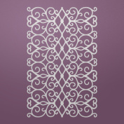 Ultimate Crafts Background Gallery Die-Floral Lattice, 11cm x 6.9cm