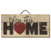 Highland Graphics Americana Sign 'Bless This Home' Table or Wall Decor