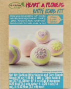 Life of the Party Heart & Flowers Bath Bomb Kit 57054