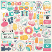Echo Park Summer Dreams Element Sticker Sheet