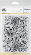 Pinkfresh Studio Clear Stamp Set 10cm x 15cm -Floral Background