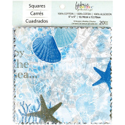 Southport Charm Pack Fabric Squares 13cm x 13cm Ocean/Sea/Shell Theme