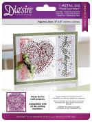 Die'sire Die's ire Create-A-Card Die, Floral Lace Heart
