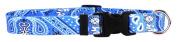 Yellow Dog Design Bandana Blue Dog Collar 1cm Wide And